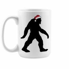 Christmas Bigfoot Coffee Mug