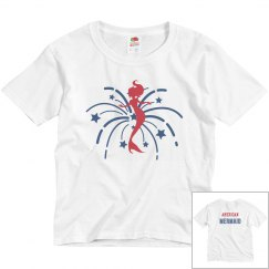 American mermaid Youth Girl Tee