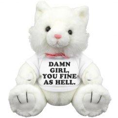 Damn Girl Stuffed Animal Gift