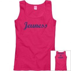 Jeuness Hot Pink Tank Top (Run Hard Or Go Home)