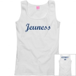 Jeuness White Tank Top (Keeping It 100)