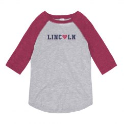 KIDS: Lincoln Heart 3/4 Sleeve
