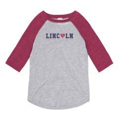 KIDS: Lincoln Heart 3/4 Sleeve