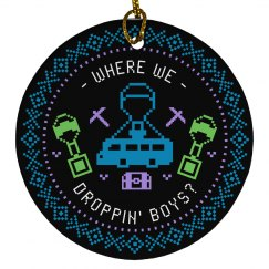Where We Droppin' Boys Fornite Ornament