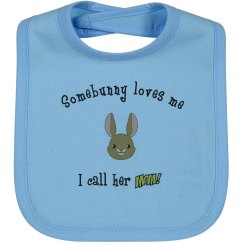 Somebunny - Bib mom blue
