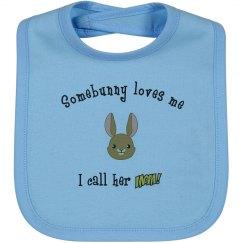 Somebunny - Bib mom blue