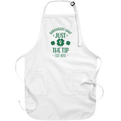 Bartender Just Want the Tip Green St. Patrick's Apron