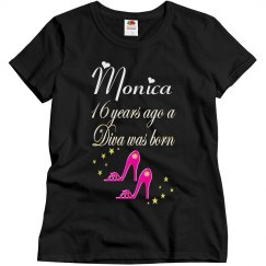 PERSONALIZED 16 BIRTHDAY SHOE LOVER T SHIRT