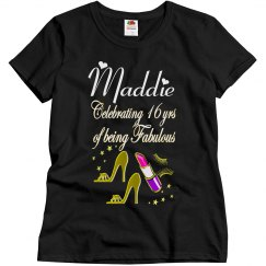 CELEBRATE BEING16 AND FABULOUS PERSONALIZED T SHIRT