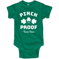 Pinch Proof St. Patrick's Custom Baby Bodysuit