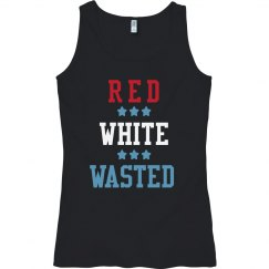 Fourth of July Red White Wasted