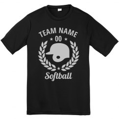 Customizable Softball Team Tees