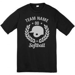 Customizable Softball Team Tees