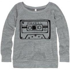 Cassette Tape | Women's Slouchy Sweatshirt