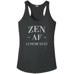 Custom Funny Yoga Zen AF