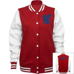 Florida school for the deaf dragons women's jacket.