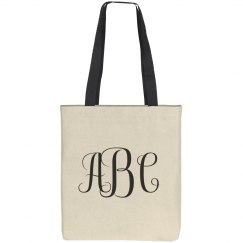 Custom Monogram Tote Bag Gift