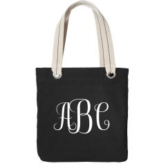 Custom Monogram Tote For Events