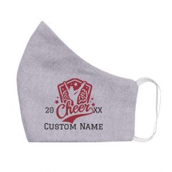 Custom Name & Date Kids Cheer Mask