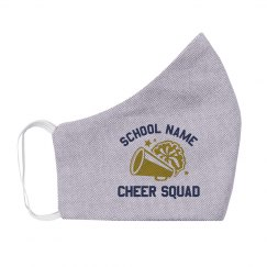 Custom School Cheer Squad Face Mask