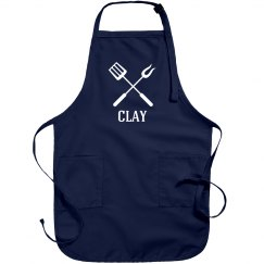 Clay personalized apron