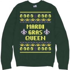 Mardi Gras Queen Ugly Sweater