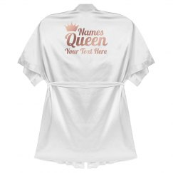 Custom Text Queen Robe