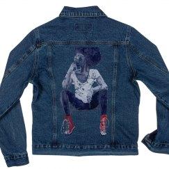 Red Kicks jean Jacket(distressed)
