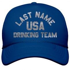 Custom Metallic Silver USA Drinking