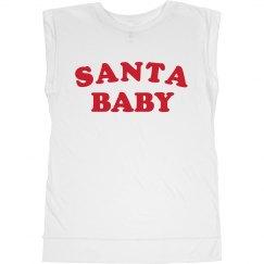 Santa Baby Flowy Muscle Tee