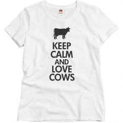 Keep calm love cows