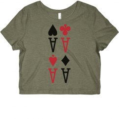 4 Aces Crop Top