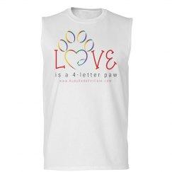 Love is a 4-letter paw (Men's Tank)