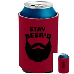 Personalized Your Text Here Stay Beer'd Koozie