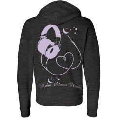 Lavender Headphones & Heart