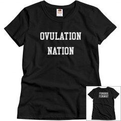 Black Ovulation Nation T-shirt