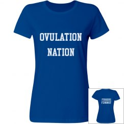 Royal Blue Ovulation Nation T-shirt