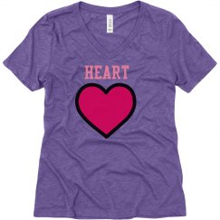 heart girl vneck shirt