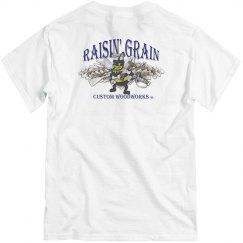 Men's Vintage Raisin' Grain Tee - Back Design