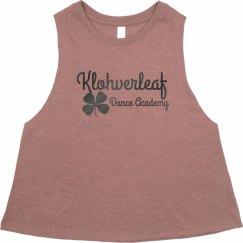 Women's sleeveless crop shirt in Mauve