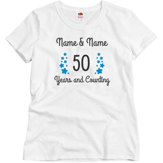 717e4548 Celebrating 50 Years And Counting Ladies Relaxed Fit Basic Promo T-Shirt