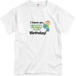 Earth Day Birthday - Blue