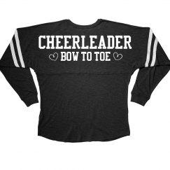 Cheerleader Bow To Toe Slub