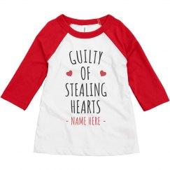 Guilty of Stealing Hearts Custom Raglan