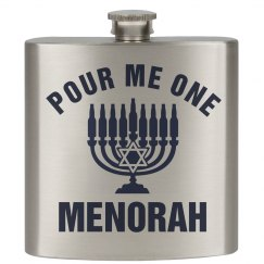 Hanukkah Drinking Flask