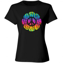 Colorful Peace Symbol Flower