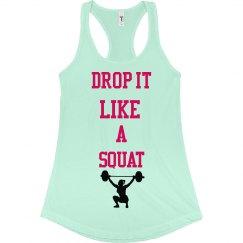 Squat workout tank