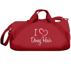 I Heart Hair Red Duffle - Cosmetology