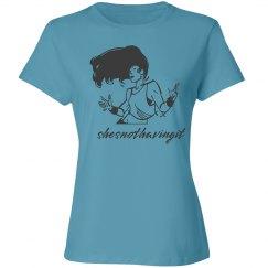 She's Not Having It Gray Woman T Shirt