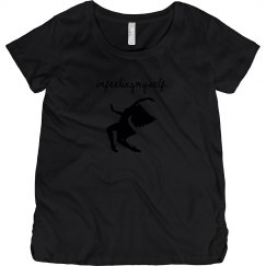 I'm Feeling Myself Black and Hot Pink Maternity T Shirt